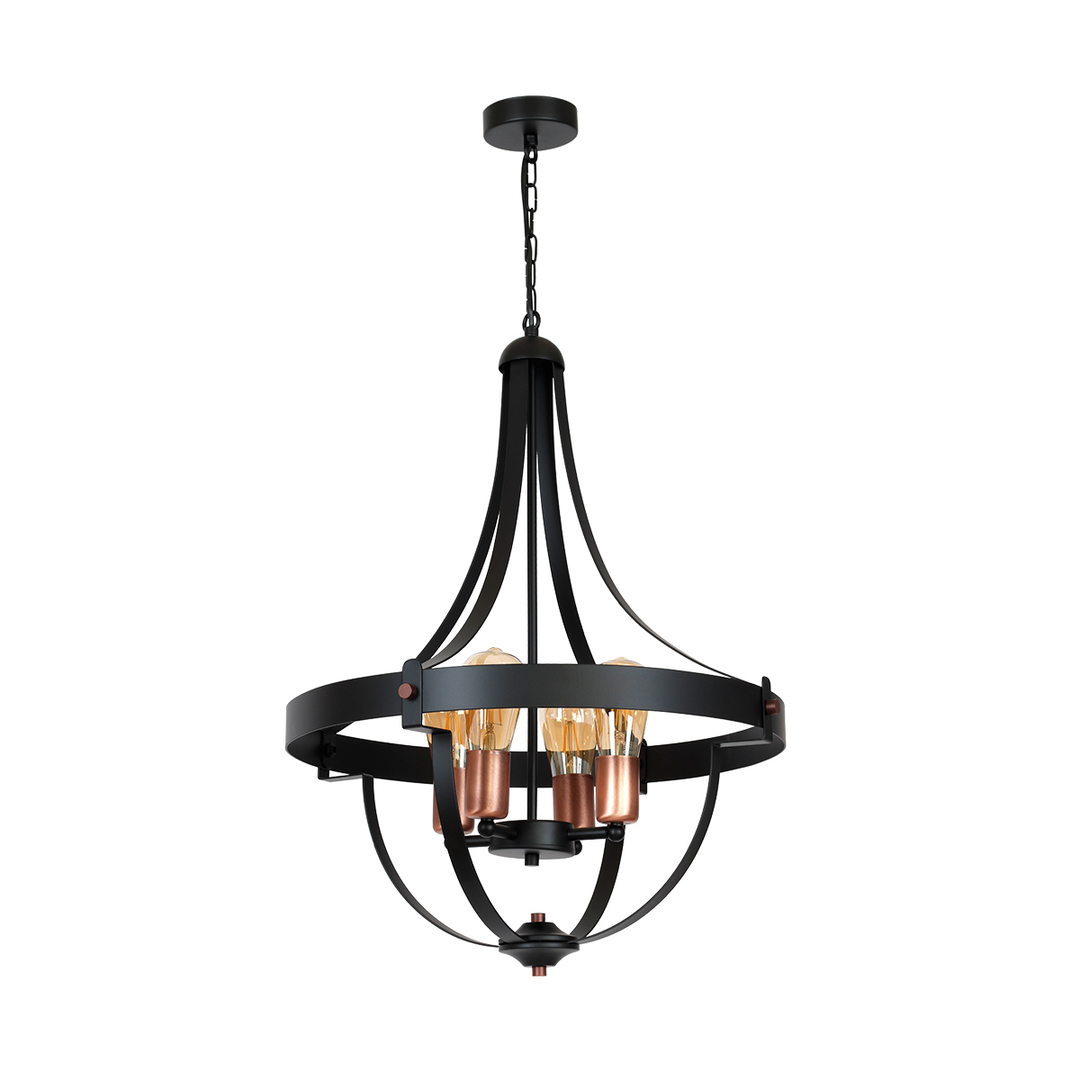 Black Derby Hanging Lamp 4x E27