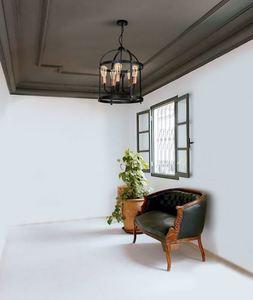 Black Dublin Hanging Lamp 5x E27 small 1
