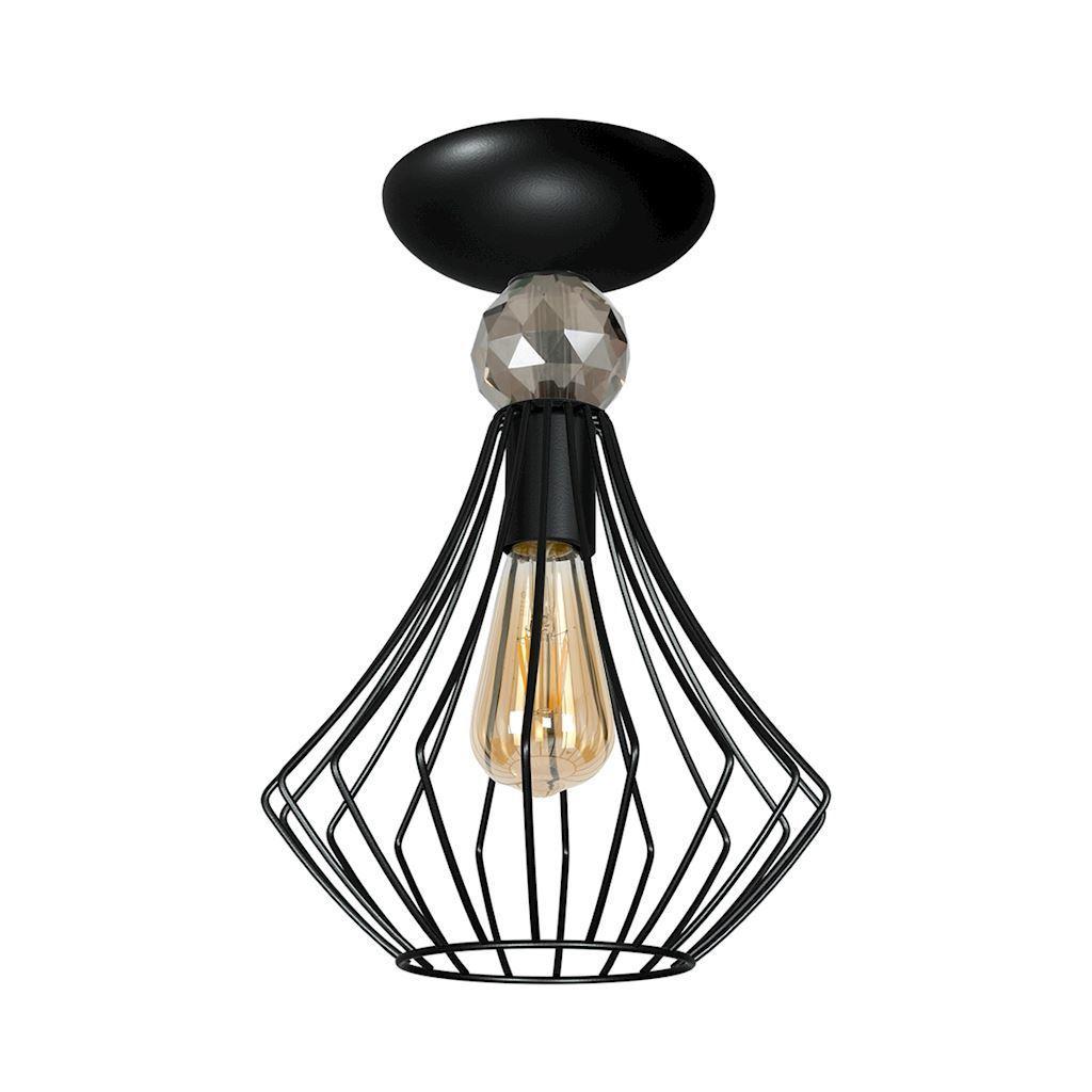 Black Jewel Black 1x E27 Ceiling Lamp