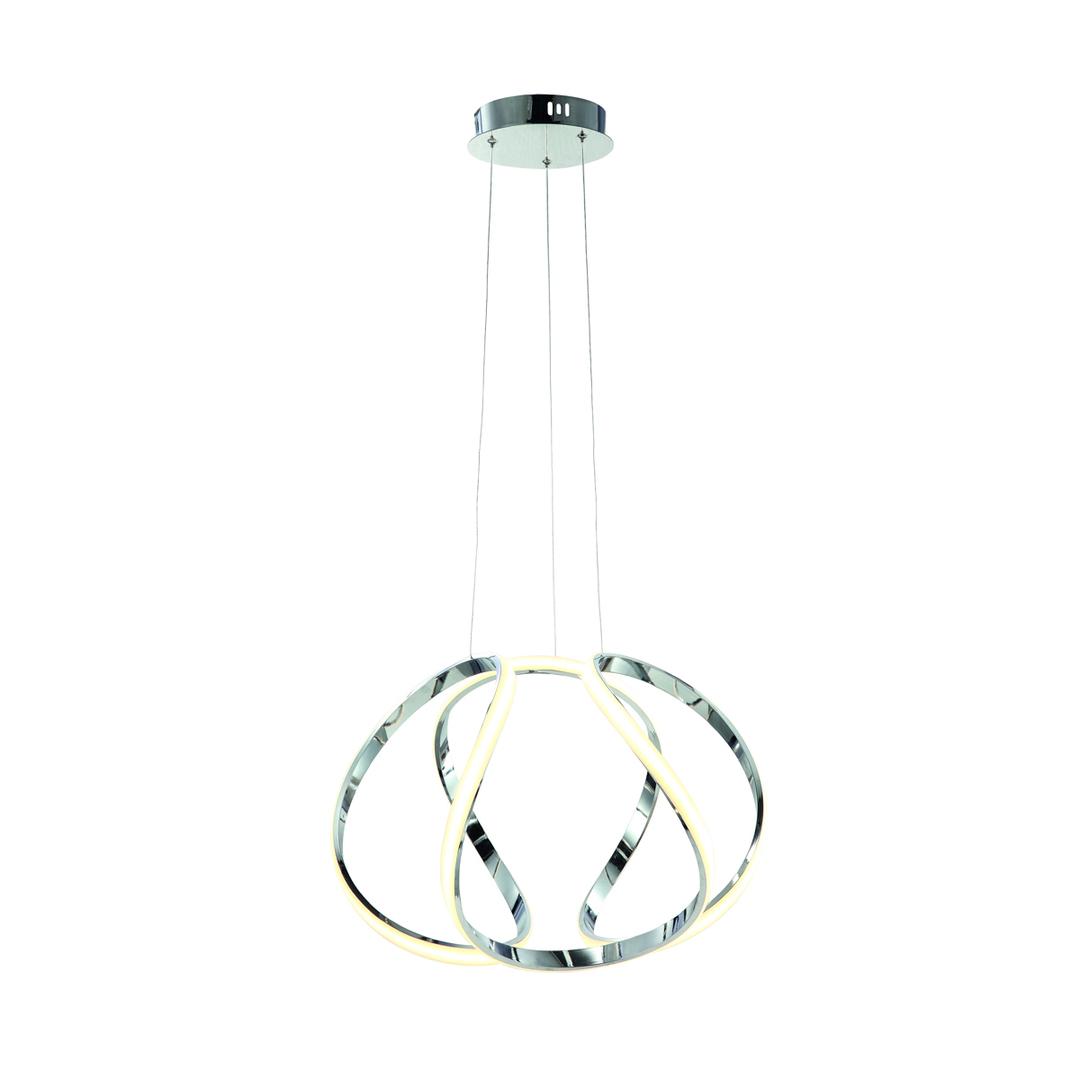 Chrome Pendant Lamp Globe 50 W Led