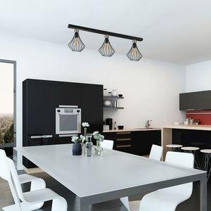Jewel Black 3x27 Black Ceiling Lamp small 1
