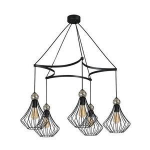Black Hanging Lamp Jewel Black 5x E27 small 0