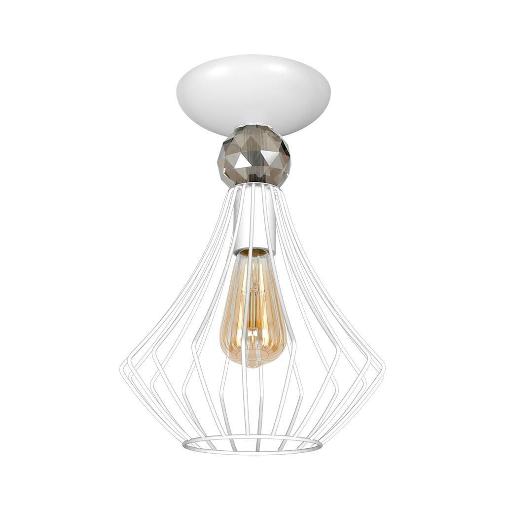 Jewel White 1x E27 White Ceiling Lamp