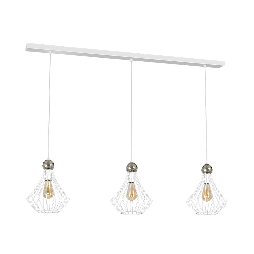 White Jewel White Hanging Lamp 3x E27