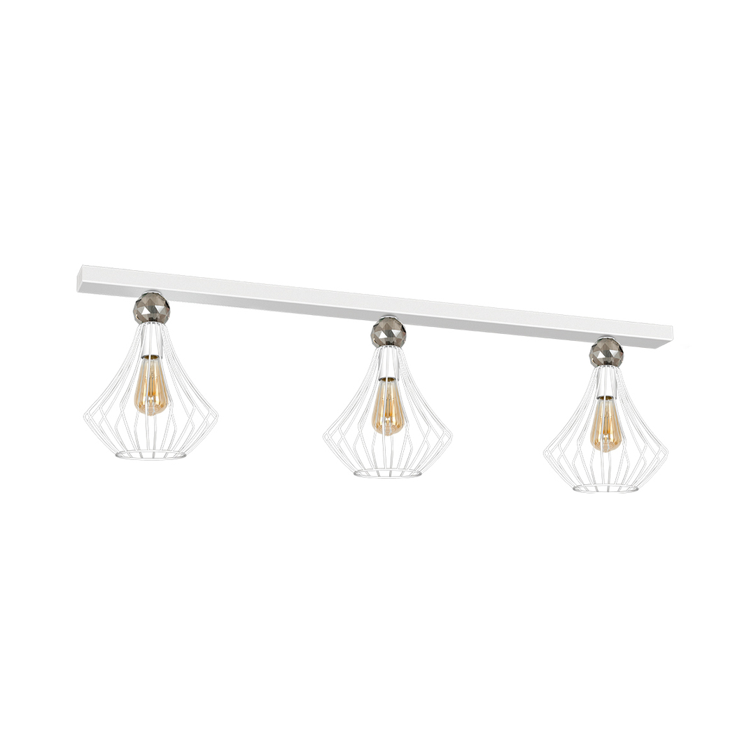 Jewel White Ceiling Lamp 3x E27