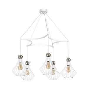 White Jewel White Hanging Lamp 5x E27 small 0