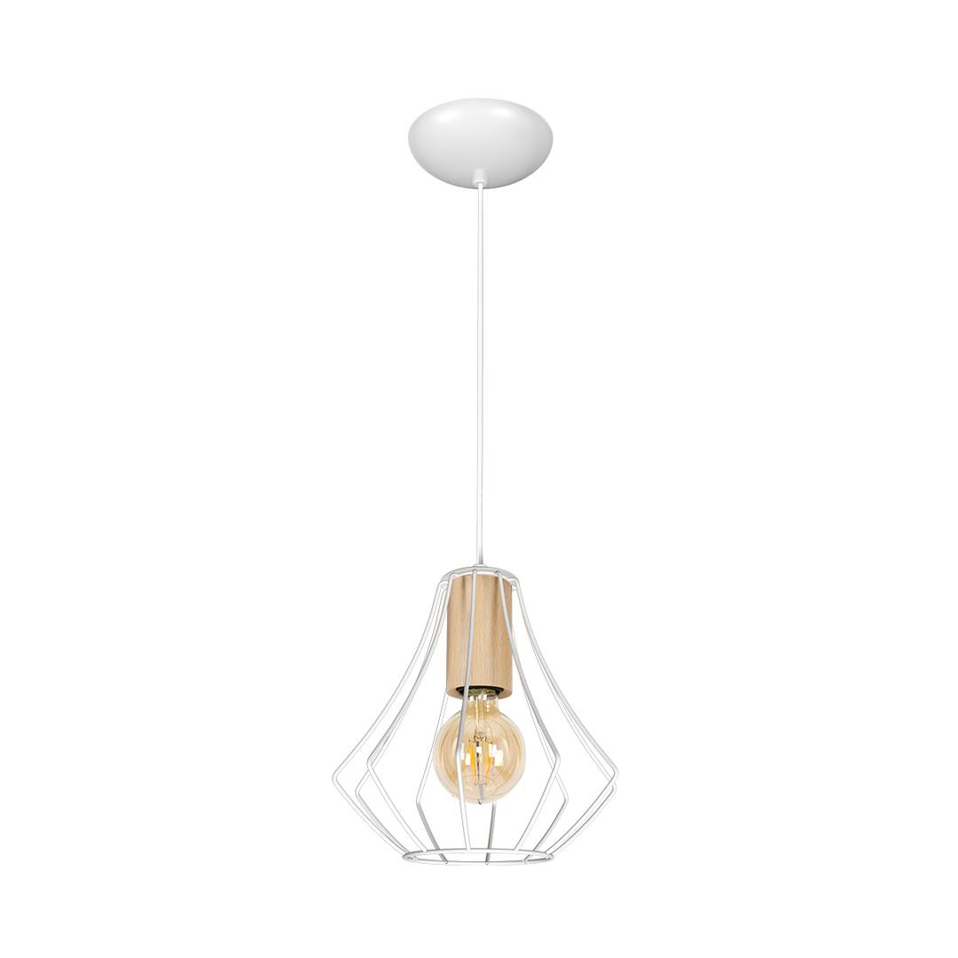 Will White 1x E27 Pendant Lamp