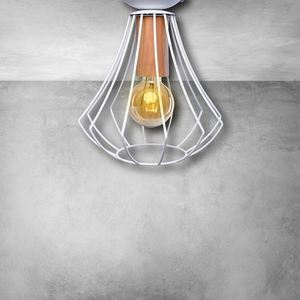 Will White 1x E27 Ceiling Lamp small 5