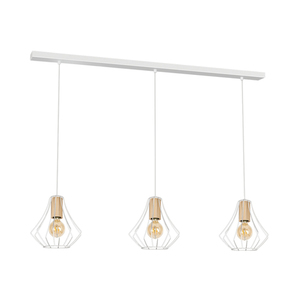 Will White 3x E27 pendant lamp small 0