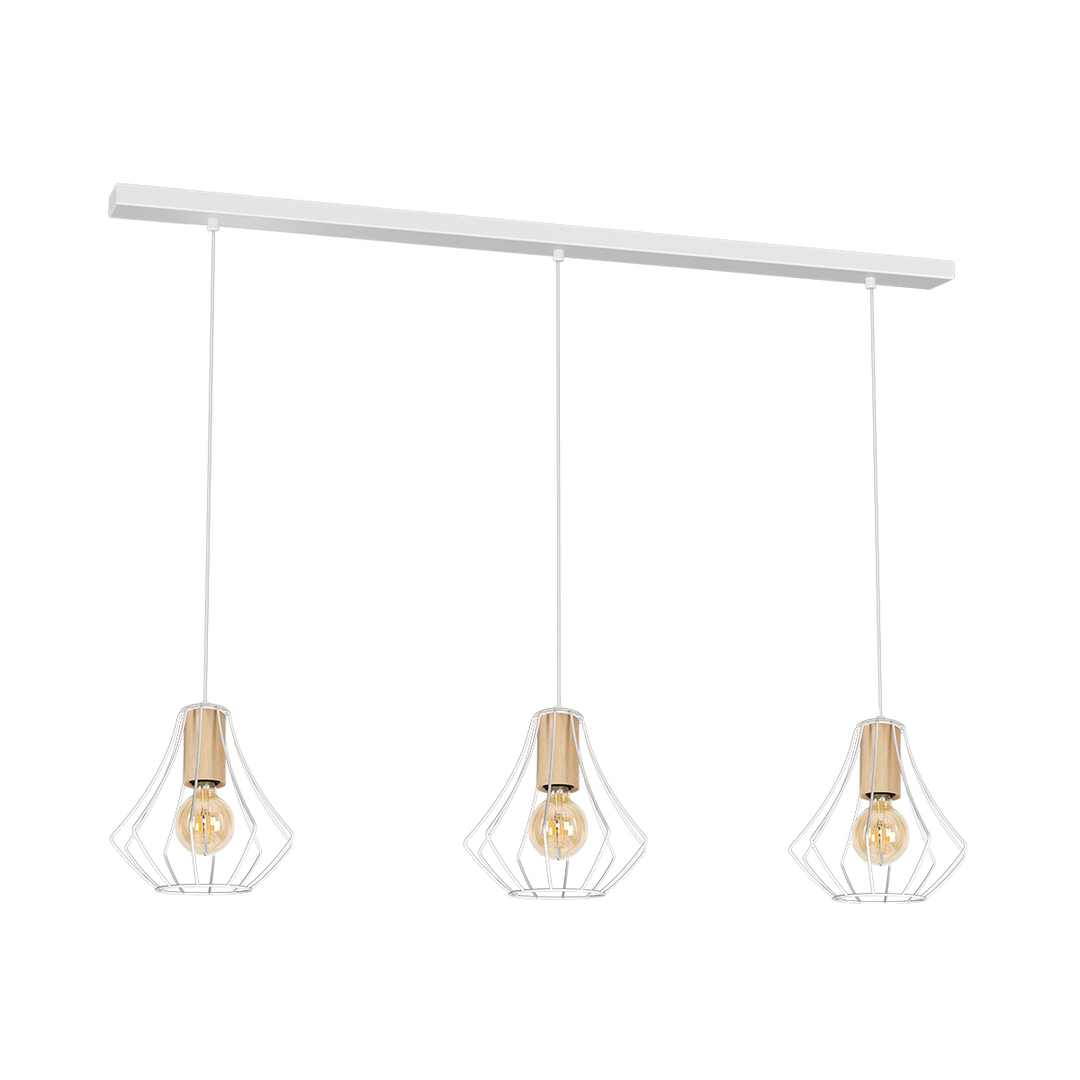 Will White 3x E27 pendant lamp