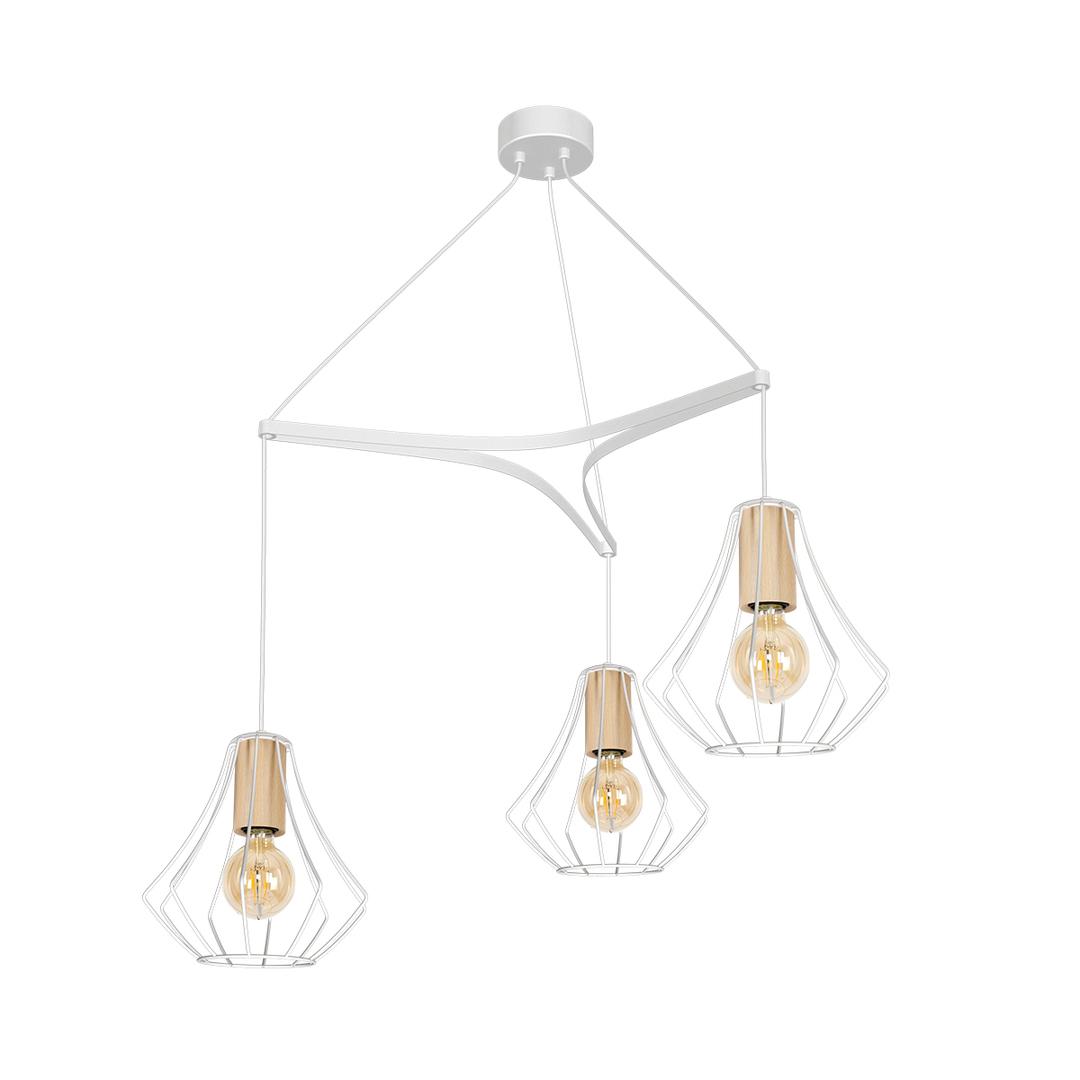 Will White 3x E27 pendant lamp