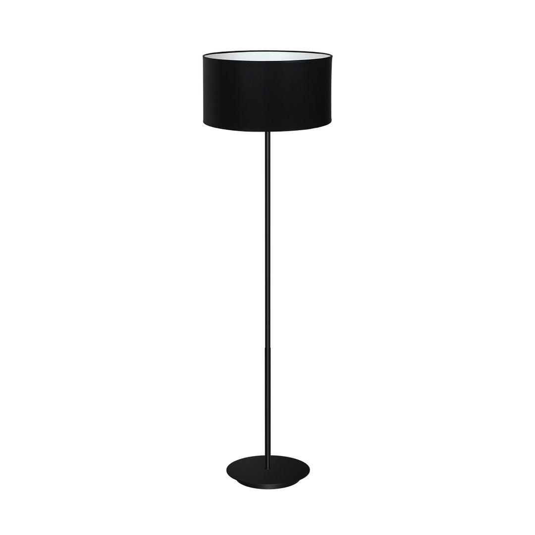 Black Standing Lamp Bari Black 1x E27