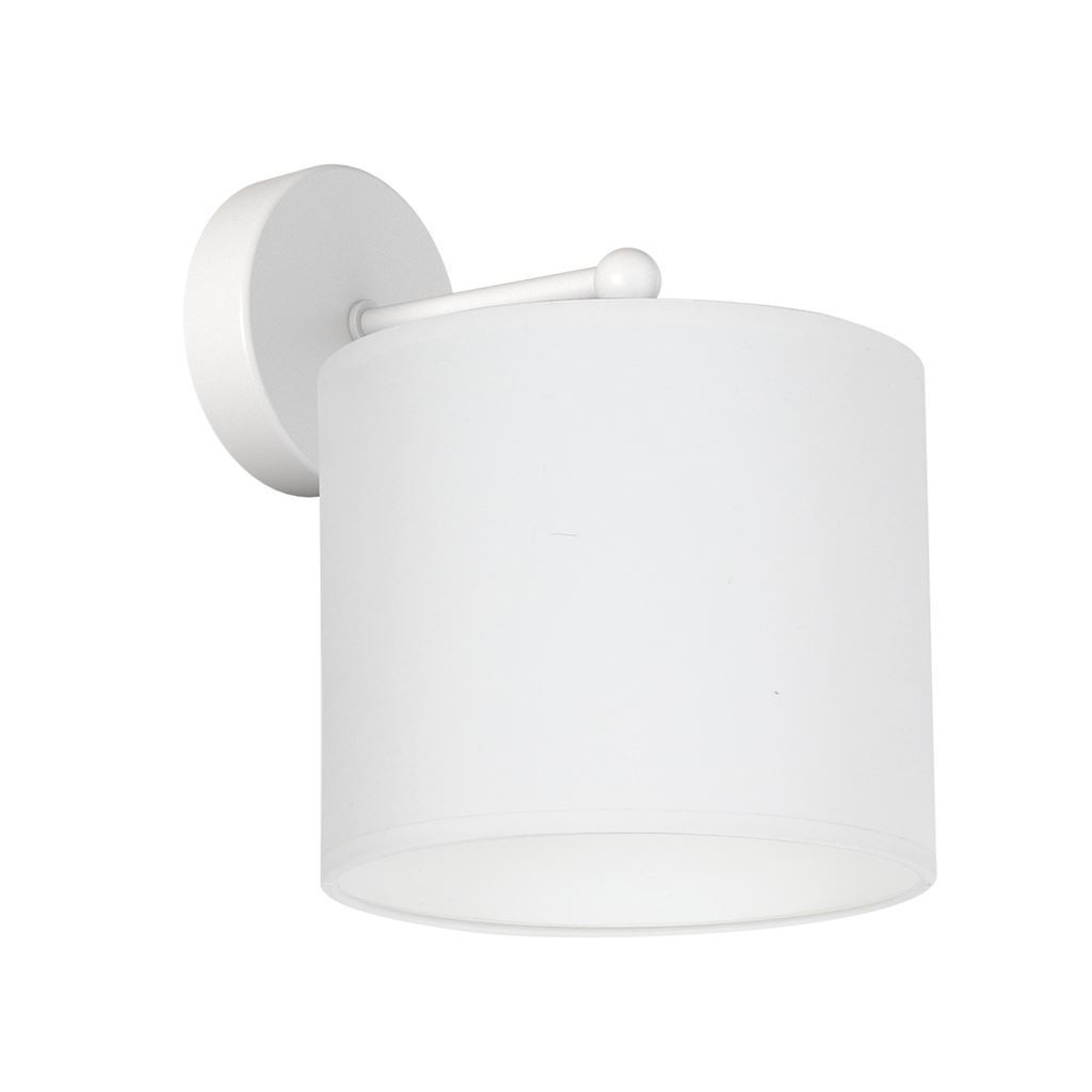 White Wall Lamp Bari White 1x E27