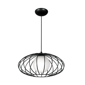 Black Kronos Black 1x E14 Hanging Lamp small 0