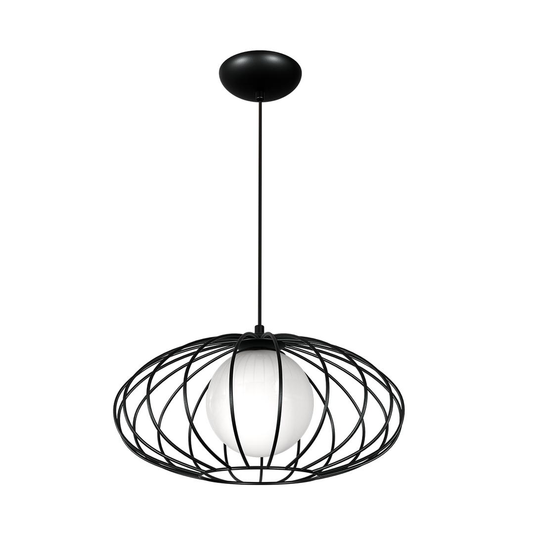Black Kronos Black 1x E14 Hanging Lamp