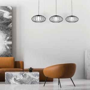 Black Hanging Lamp Kronos Black 3x E14 small 1