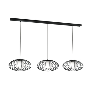 Black Hanging Lamp Kronos Black 3x E14 small 0