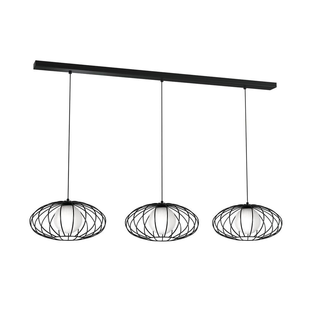 Black Hanging Lamp Kronos Black 3x E14