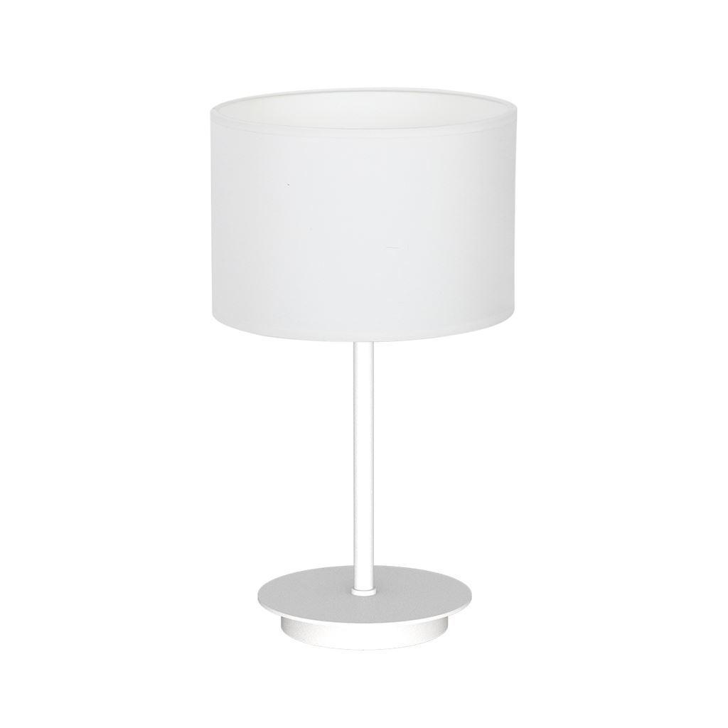 Bari White 1x E27 White Table Lamp