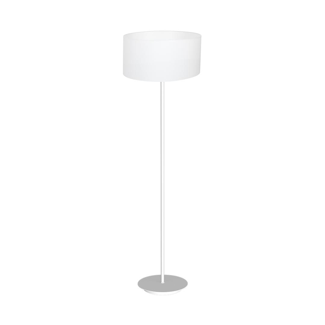 Bari White 1x E27 Standing Lamp