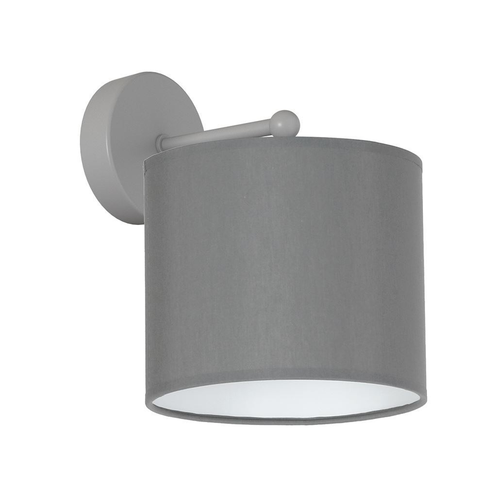 Gray Wall lamp Bari Gray 1x E27