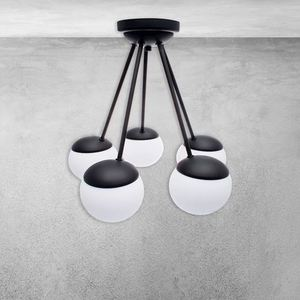 Black Ceiling Lamp Sfera Black 5x E14 small 4