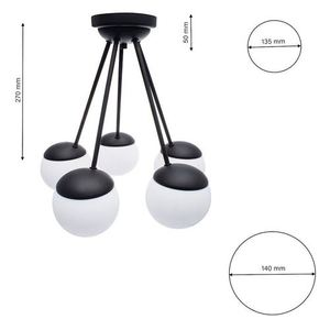 Black Ceiling Lamp Sfera Black 5x E14 small 5