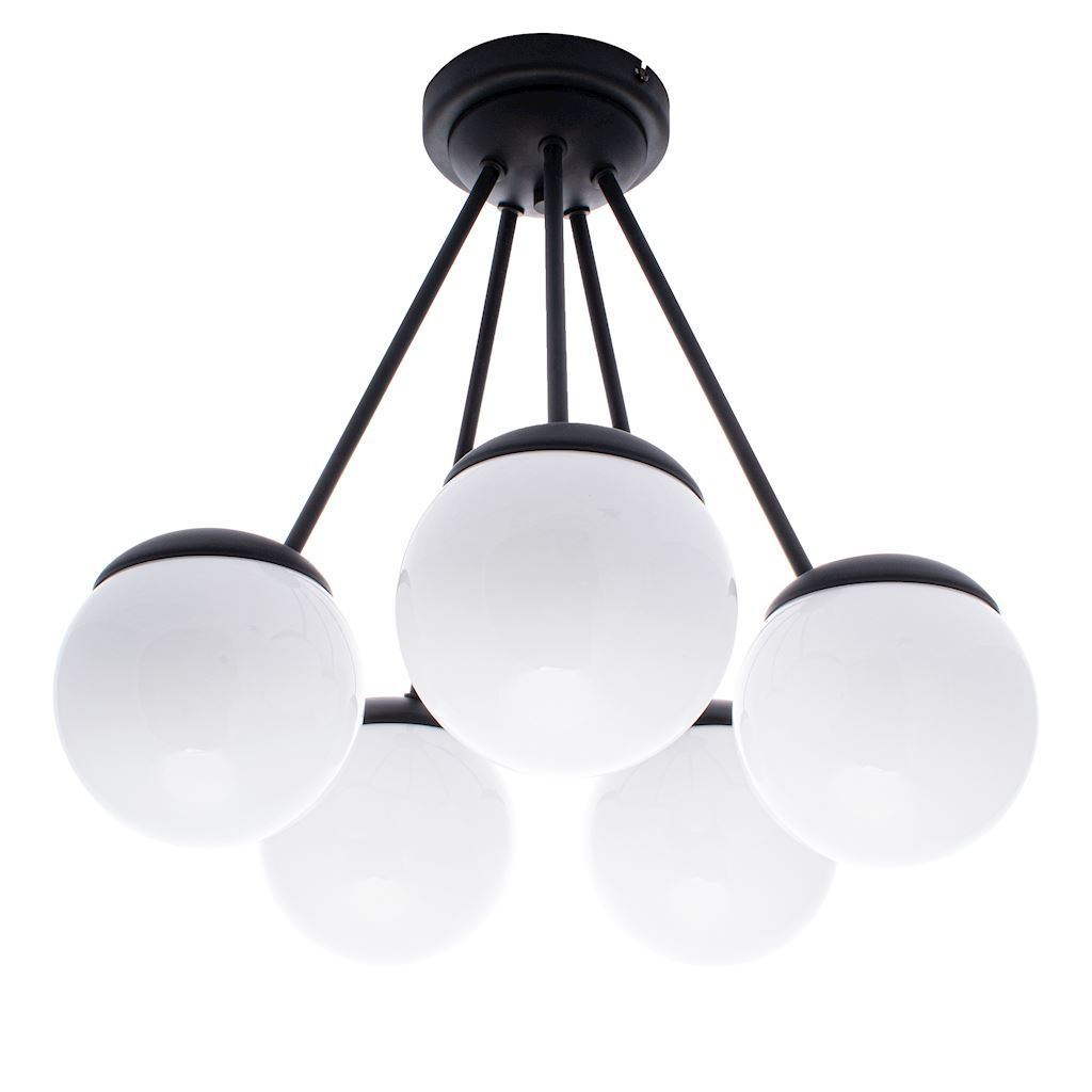 Black Ceiling Lamp Sfera Black 5x E14