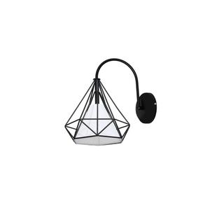 Black Wall lamp Triangolo 1x E27 small 0