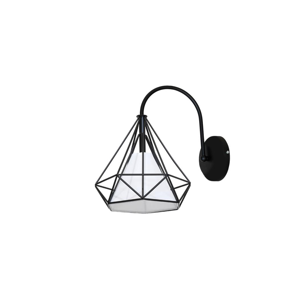 Black Wall lamp Triangolo 1x E27