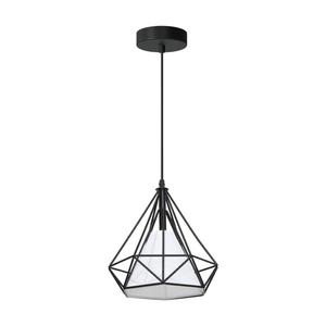 Black Triangolo 1x E27 Hanging Lamp small 0