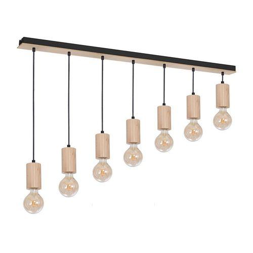 Wood Hanging Lamp Lines 7x E27