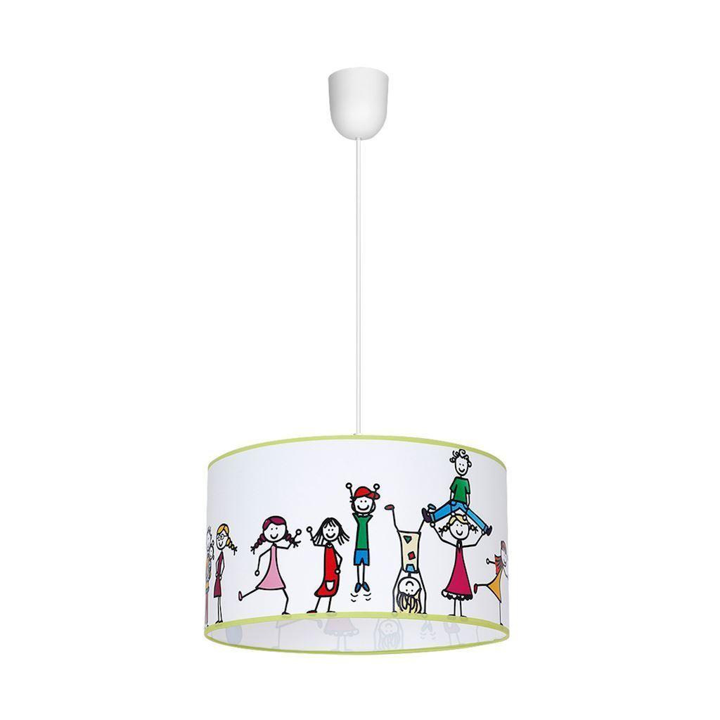 Multicolor Kids Pendant Lamp 1x E27