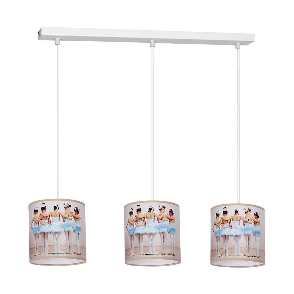 Multicolor Hanging Lamp Ballerina 3x E27
