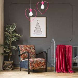 Hanging Lamp Amore Dark Pink 1x E27 small 1