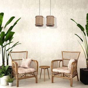 Wood Egon 2x E27 Hanging Lamp small 1