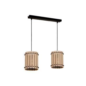 Wood Egon 2x E27 Hanging Lamp small 0