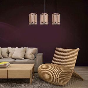 Wood Hanging Lamp Egon 3x E27 small 1