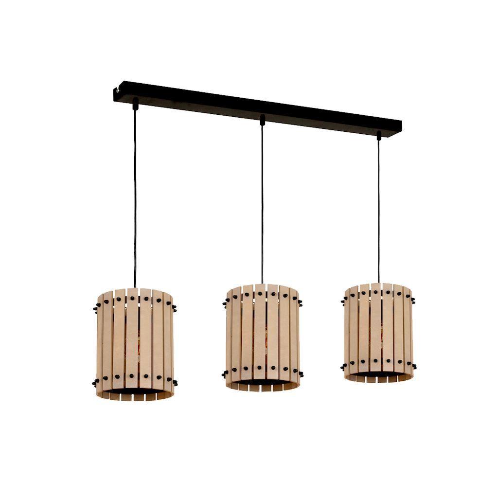 Wood Hanging Lamp Egon 3x E27