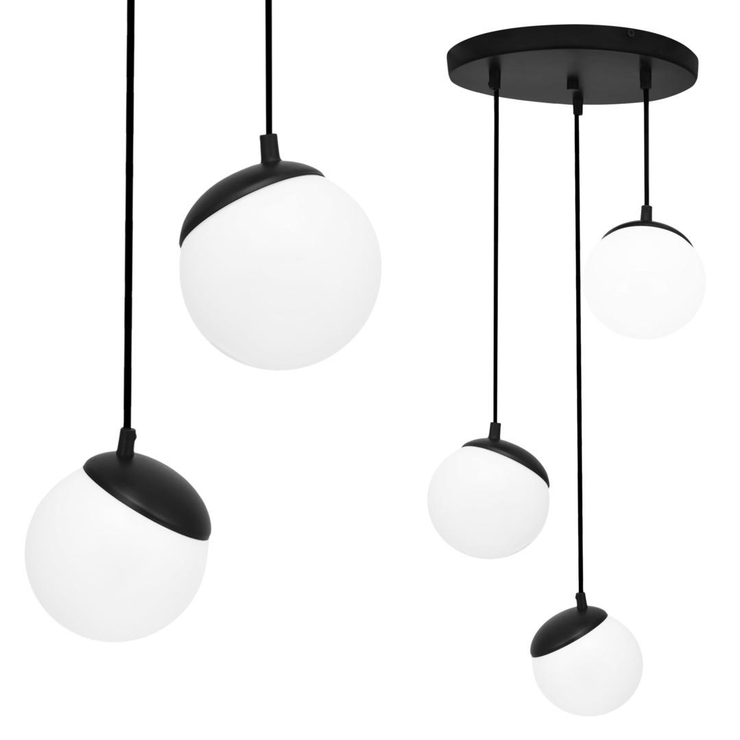 Black Hanging Lamp Sphere Black 3x E14