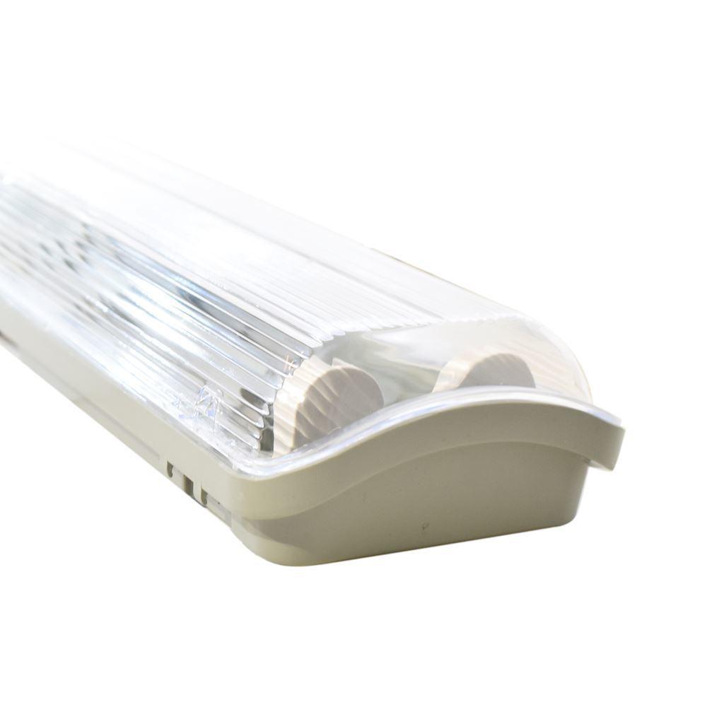 Gray Hermetic Luminaire 2x60cm Under IP65 LED fluorescent lamp