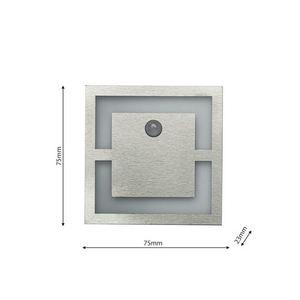 Silver Quadro. Color: Neutral 4000 K. Pir. 12 V small 1