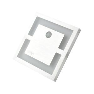 Silver Quadro. Color: Neutral 4000 K. Pir. 12 V small 0