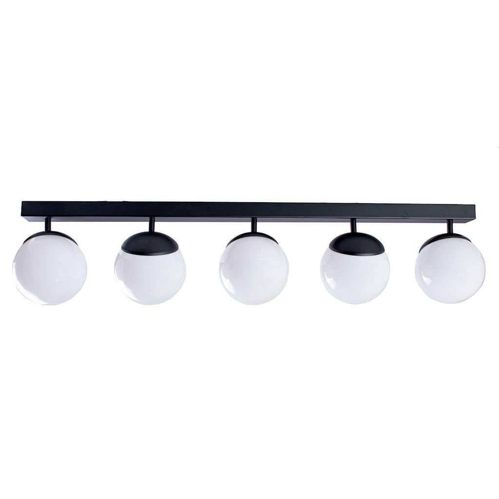 Black Ceiling Lamp Sfera Black 5x E14