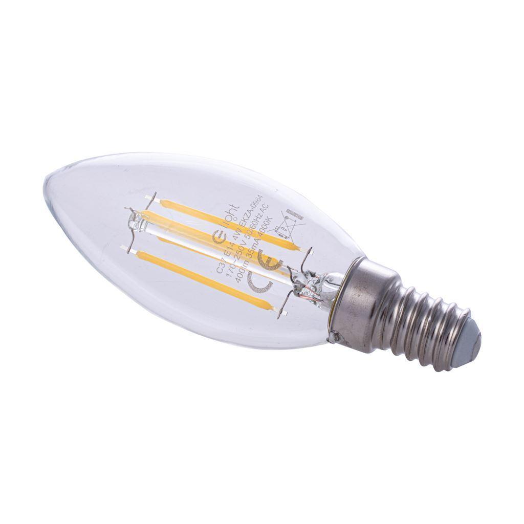 Filament bulb Led 4 W candle E14 4000K
