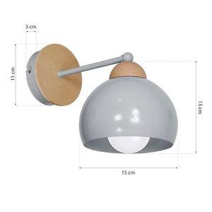Gray Wall lamp Dama Gray 1x E27 small 6