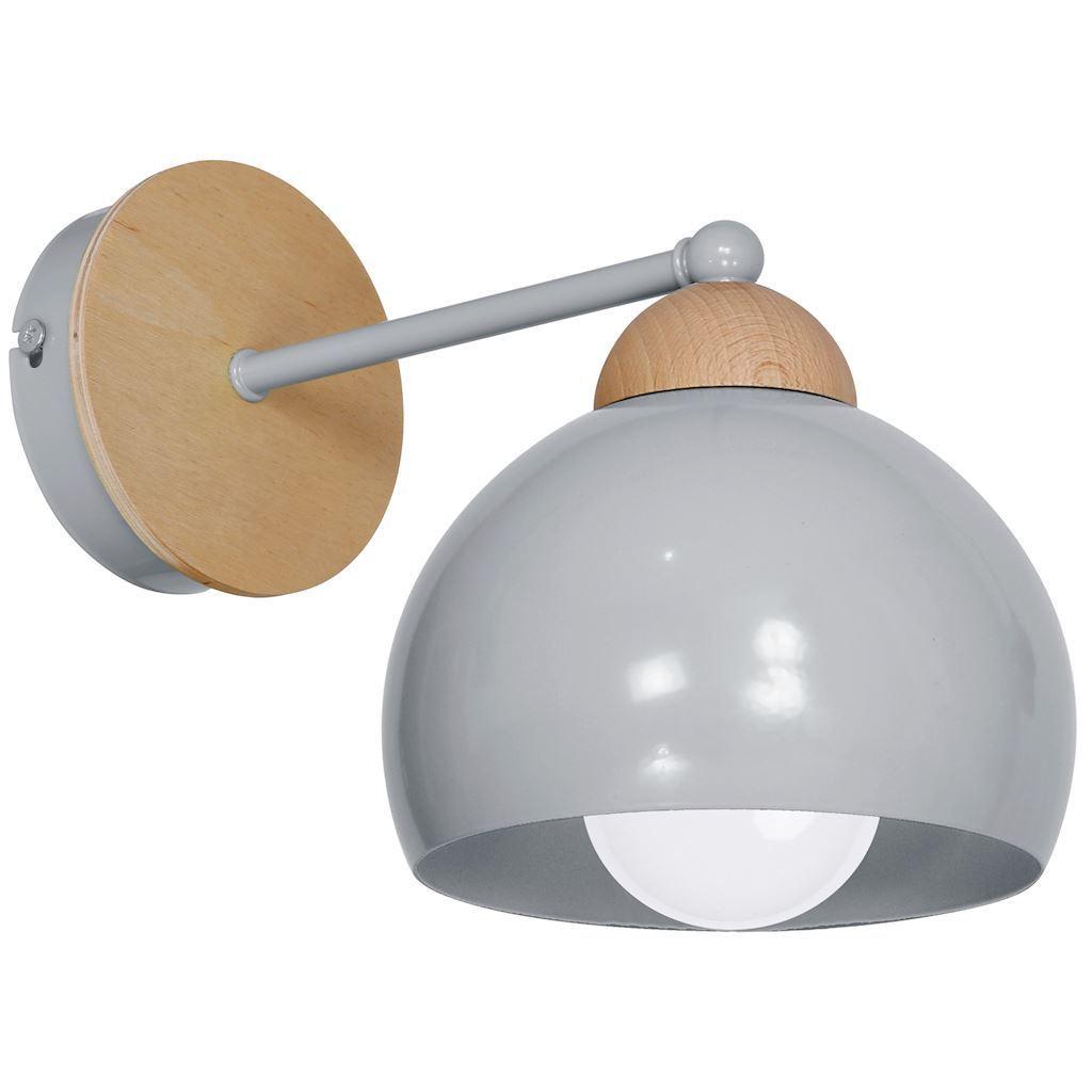 Gray Wall lamp Dama Gray 1x E27