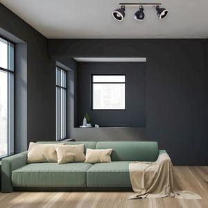 Black Oval Black Ceiling Lamp 3x E27 small 4