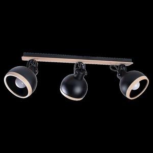 Black Oval Black Ceiling Lamp 3x E27 small 6