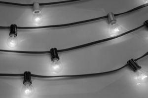 Black Professional Garland Ip44 5 M + IP44 socket small 5